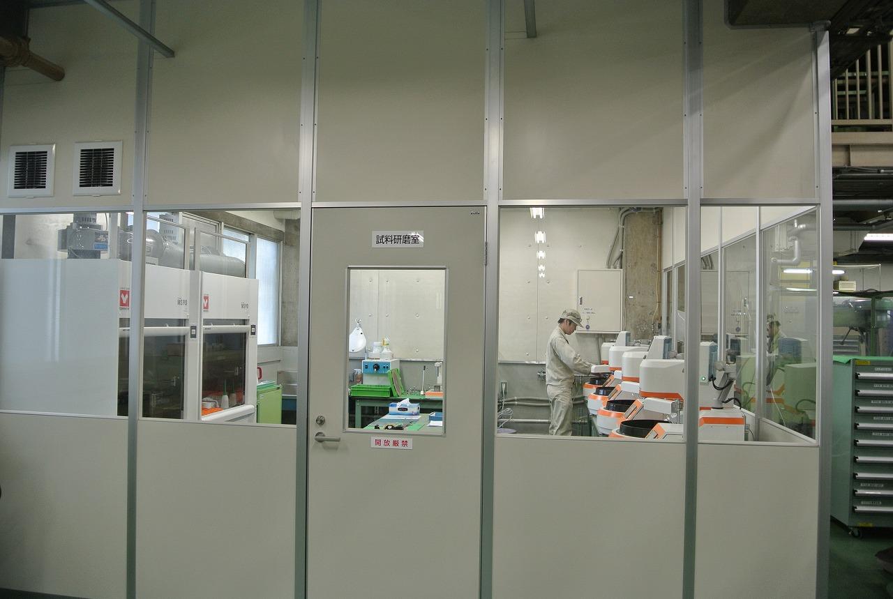摂津事業部工場内試料研磨室増設